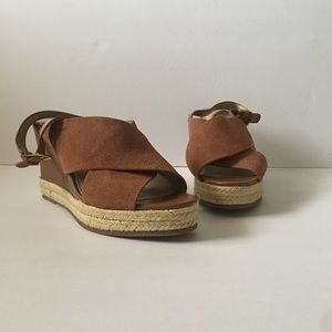 H by Halston Brown Suede Wedges!